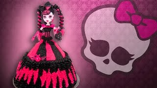 Monster High Doll Cake from Cookies Cupcakes and Cardio