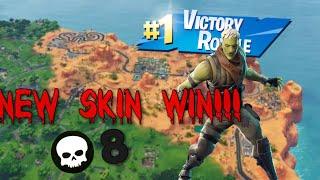 Fortnite Battle Royal Solo Win -New Brainiac Skin- (NO COMMENTARY)
