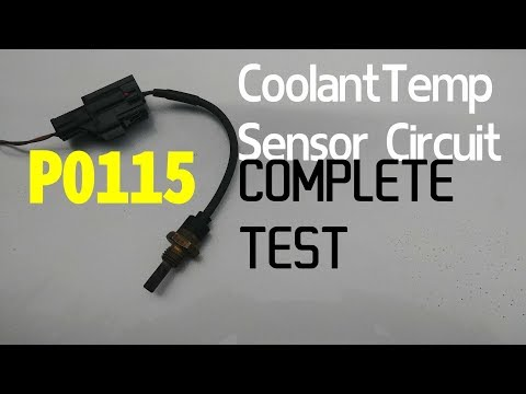 HOW TO TEST ENGINE COOLANT TEMPERATURE SENSOR. 5 TESTS. P0115 code.