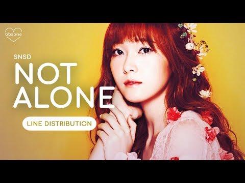 SNSD (Girls' Generation) - Not Alone   LINE DISTRIBUTION