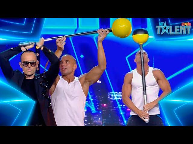 RÉCORD GUINESS de FUERZA de este participante ARGENTINO   Audiciones 3   Got Talent España 7 (2021)