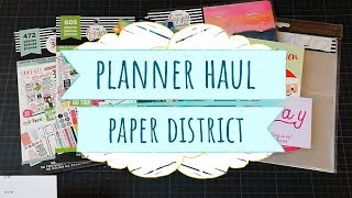 Compras scrapbook Haul | Paper District | Happy Planner 2019