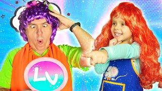 Varvara pretend play beauty salon | Dad in a beauty salon for children