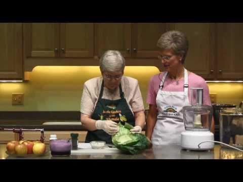 Making Homemade Sauerkraut, Part 1/2