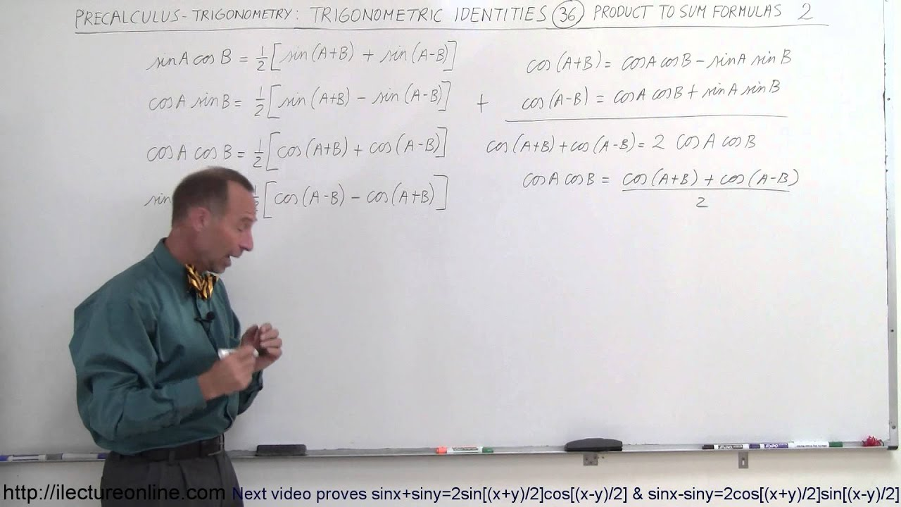 PreCalculus - Trigonometry: Trig Identities (36 of 57) Product to Sum  Formula 2