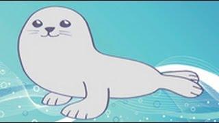Cómo dibujar una foca. Dibujos infantiles