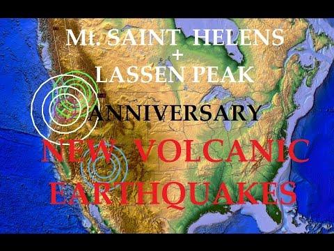 5/16/2015 -- Mt. Saint Helens Eruption Anniversary + New WEST COAST Volcanic Earthquakes