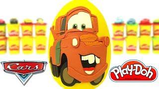 Disney Arabalar Filmi Mater Sürpriz Yumurta Oyun Hamuru Play Doh