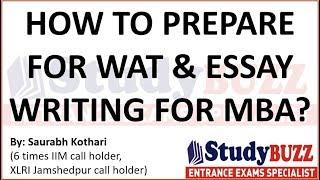 Decode the secret of writing a good essay for WAT. Sample WAT: http...