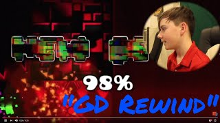 Reacting to Geometry Dash Rewind 2017! (The Shape of GD Rewind LOL)