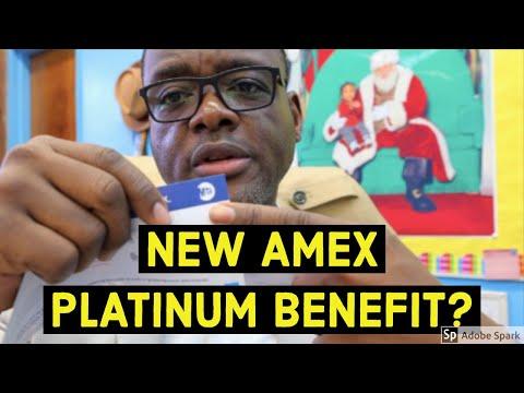 New American Express Platinum Benefit?