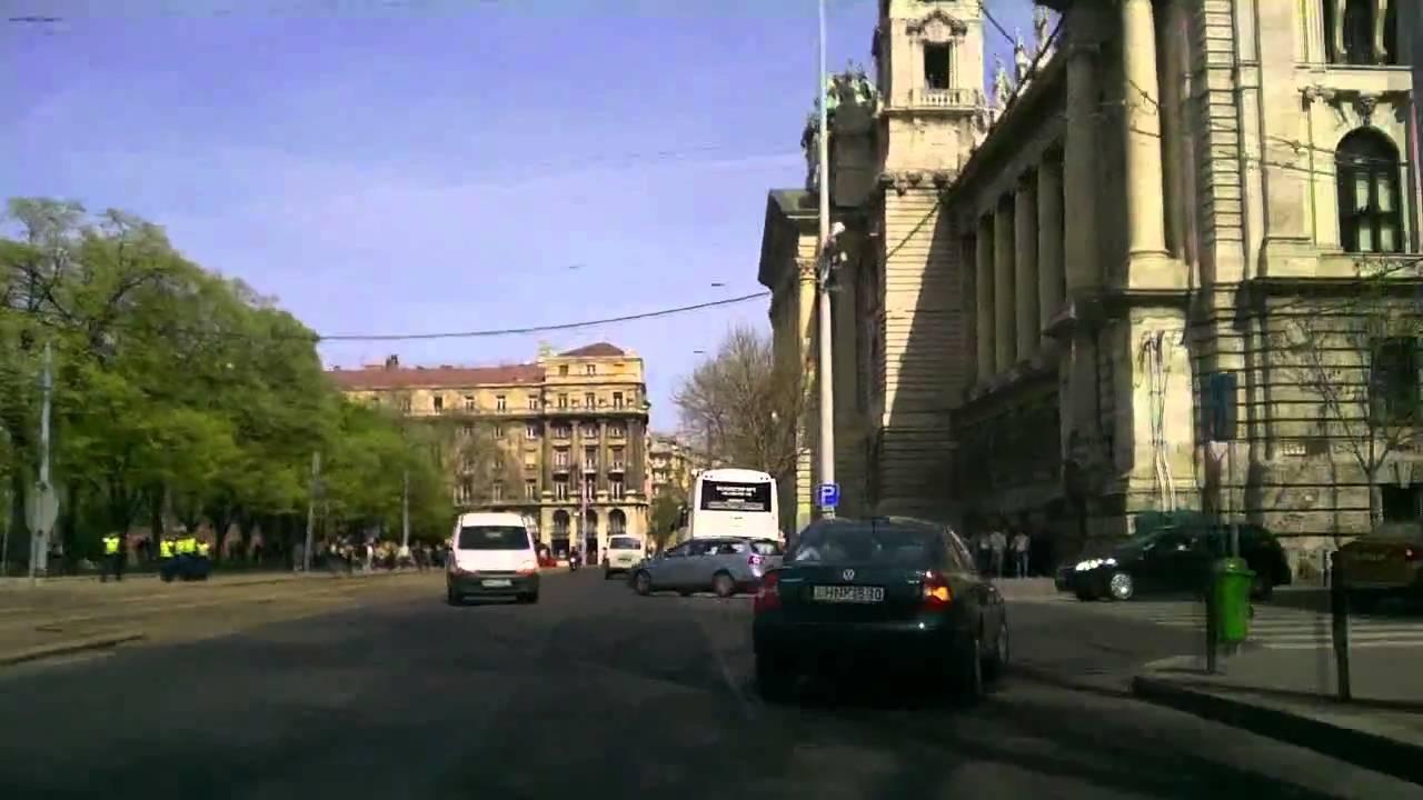 Budapest dashcam: MOM Park to WestEnd