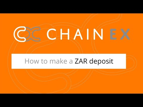 How to make a ZAR deposit on ChainEX | South African Crypto Exchange