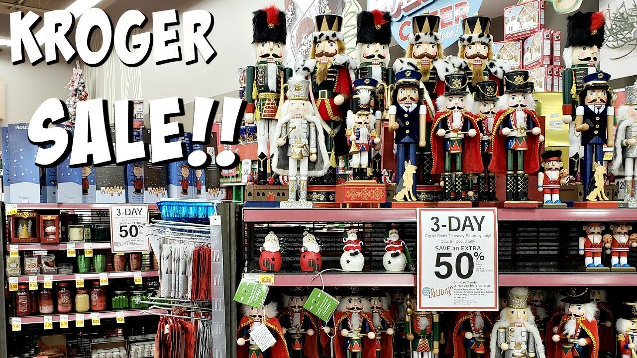 Kroger Christmas Hours.Kroger 3 Day Sale Shop With Me 50 Off Christmas Candy Decor 2018