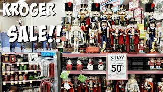 KROGER 3 DAY SALE! SHOP WITH ME 50% OFF CHRISTMAS CANDY DECOR 2018
