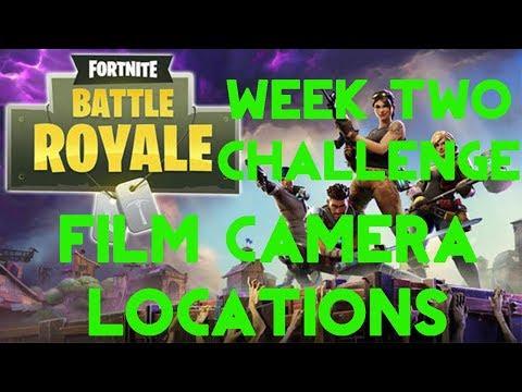 Fortnite Battle Royale | Season 4 Week 2 Challenge | Film Camera Locations Guide