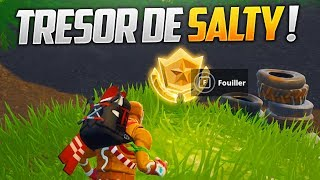 CARTE AU TRESOR DE SALTY SPRINGS DE FORTNITE BATTLE ROYALE !