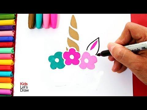 Bonito Unicornio Decorativo Para Dibujar Y Pintar Diy Fácil