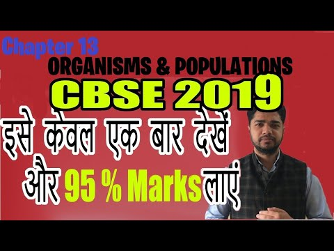 12th Class Biology Important Questions 2019 | Chapter 13 | Organisms and Populations .