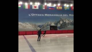 Elena Radionova training camp Courmayeur