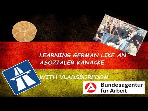 Learning German like an ASOZIALER KANACKE! - Language Lesson with VladsBoredom #1
