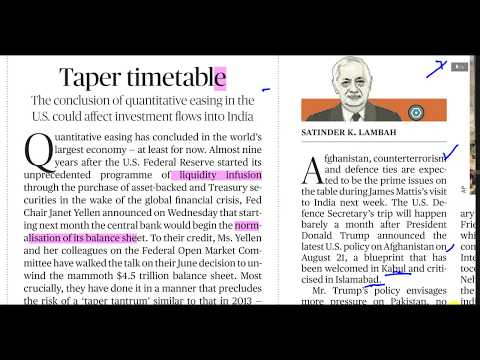 Quantitative Easing in US and FDI in India- Vies on News