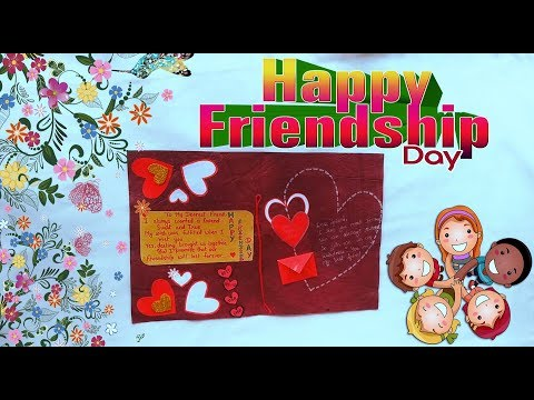 Friendship day Card | Handmade cards | How to make a handmade friendship day card
