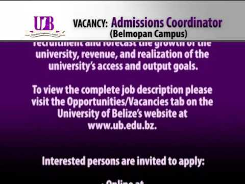 Employment Opportunity: Admissions Coordinator