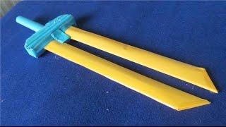 Как сделать бумажный меч | 2 лезвия меча(Как сделать бумажный меч | 2 лезвия меча., 2015-06-25T17:28:47.000Z)
