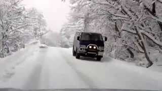 Winter Driving in Mt. Daisen