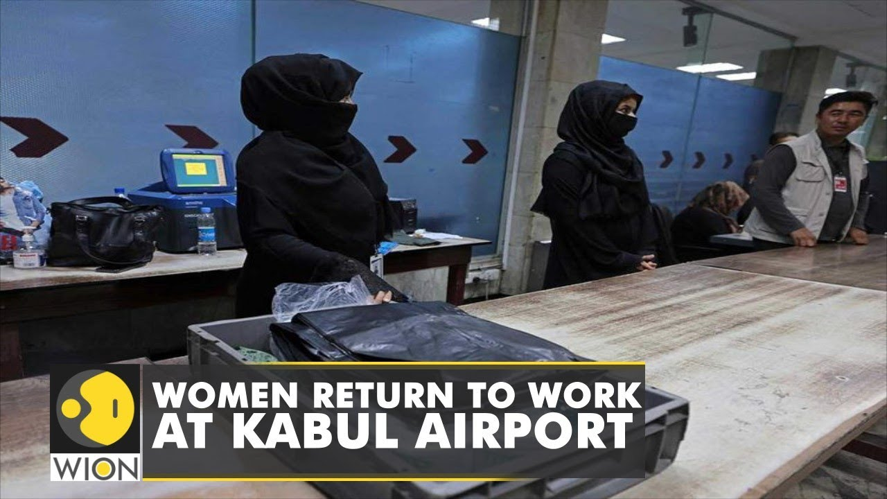 Download 12 Afghan women return to work at Kabul international airport   Taliban   Latest English News   WION