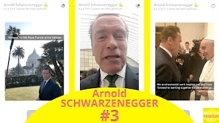 Arnold schwarzenegger meets the pope at ...