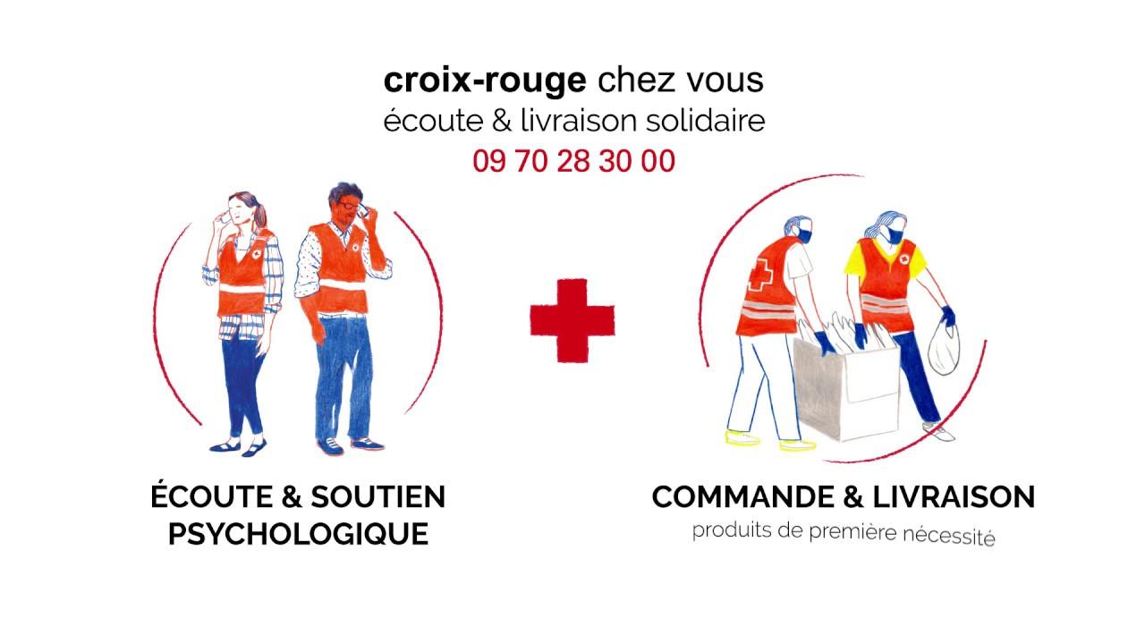 Présentation de Croix-Rouge chez vous : écoute et livraison solidaire