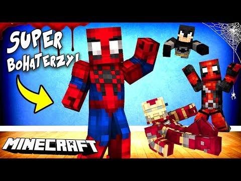 SUPER BOHATERZY W MINECRAFT! || SPIDER-MAN, ANT-MAN, DEADPOOL I INNI!