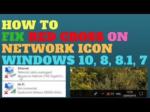 How to Fix Red Cross on Network Icon Windows 10, 8, 8.1, 7