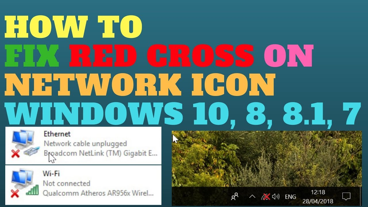 How to Fix Red Cross on Network Icon Windows 10, 8, 8 1, 7