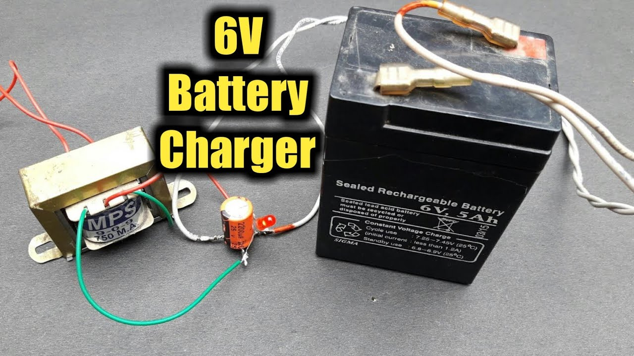 how to make 6v battery charger at home [ 1280 x 720 Pixel ]
