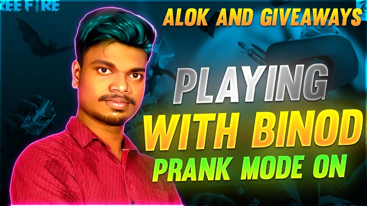FREE FIRE TAMIL LIVE \ PVS PLAYING WITH BINOD + ALOK  PRANK MODE ON