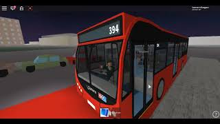 Roblox London Hackney & Limehouse bus Simulator Optare MetroCity Demonstrator CTP on Route 394