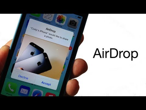 How to send photos from iphone to via airdrop