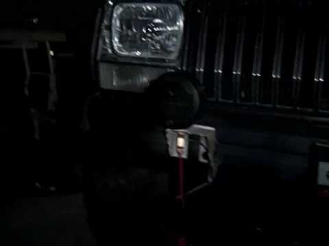 Military Black Out Driving Lights Test