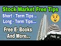 FREE FREE  FREE || Short Term & Long Term  TIps And Free Stock Market E-Books