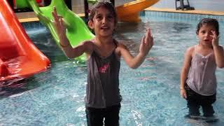 رقصة الارنب في المسبح مع هاجر واخواتها