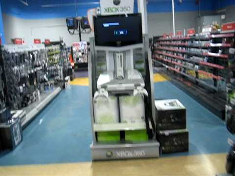 Display xbox 360 in store red ring of death - YouTube