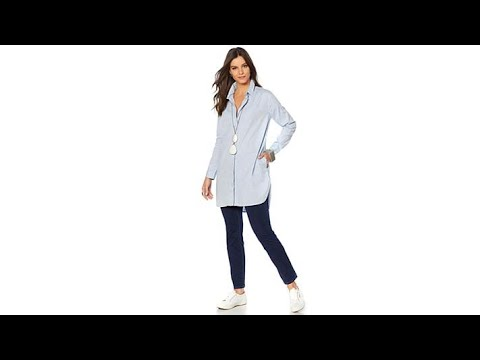 1c14aefb4e4f3 MarlaWynne ButtonFront Washed Oxford Shirt - YouTube