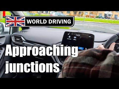 How to approach junctions in a manual car driving lesson