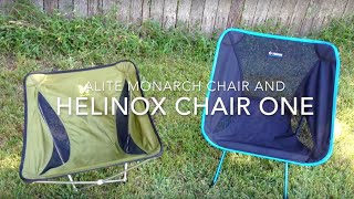 Alite Monarch And Helinox Chair One Review Youtube