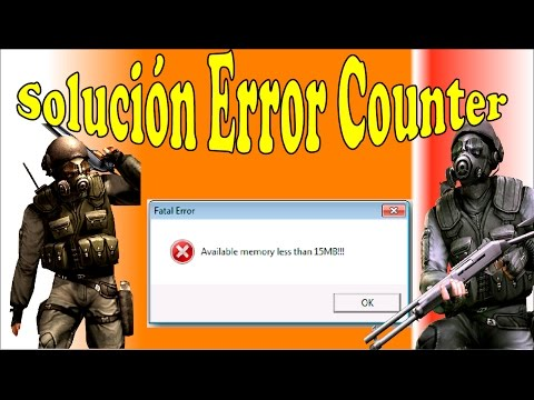 "Counter strike Fatal Error ""aviable memory less than 15 mb"""