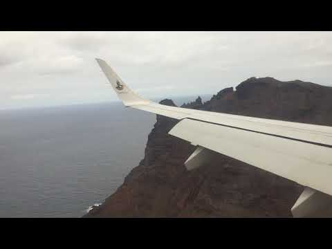 Saint Helena Landing From Left Side of the Plane