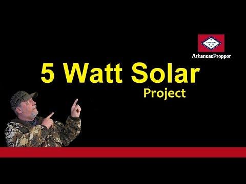 5 Watt Solar Project